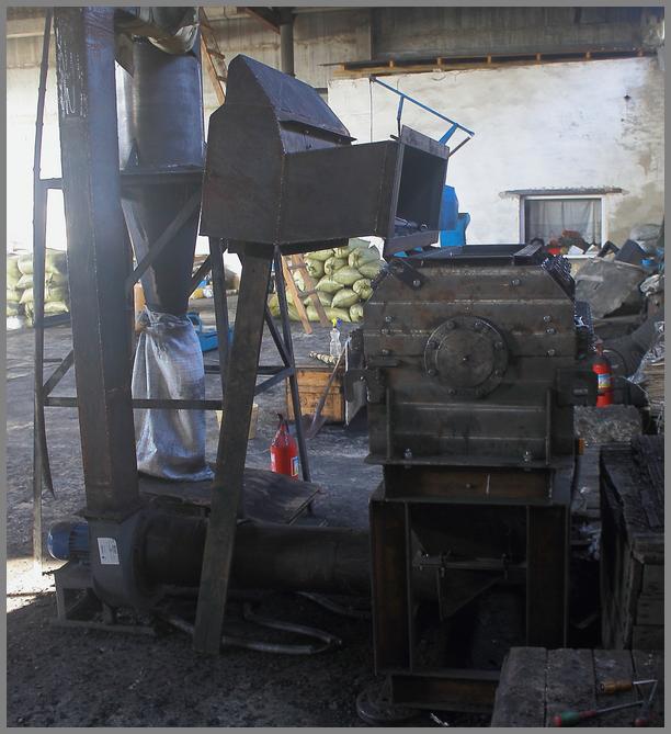 Роторный станок для измельчения отходов